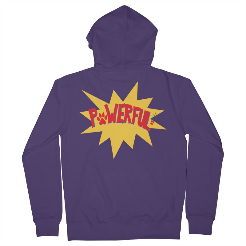 Powerful Women's French Terry Zip-Up Hoody by FashionedbyNature's Artist Shop