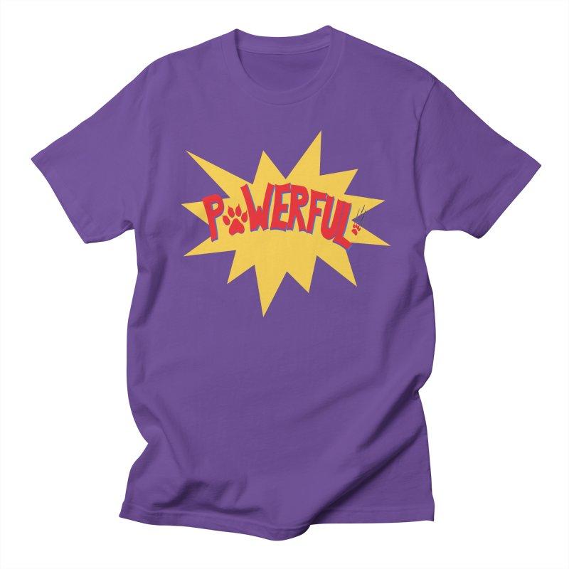 Powerful Men's Regular T-Shirt by FashionedbyNature's Artist Shop