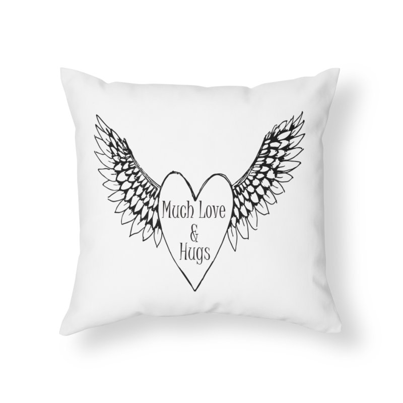 Much Love and Hugs Home Throw Pillow by All Fashioned by Nature Artist Shop