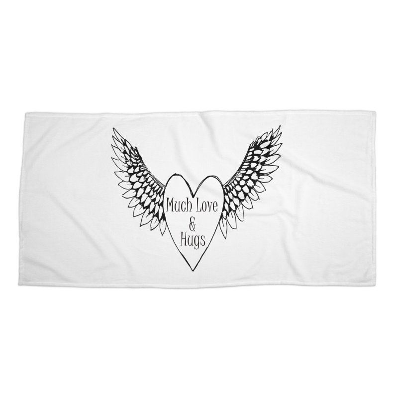Much Love and Hugs Accessories Beach Towel by FashionedbyNature's Artist Shop