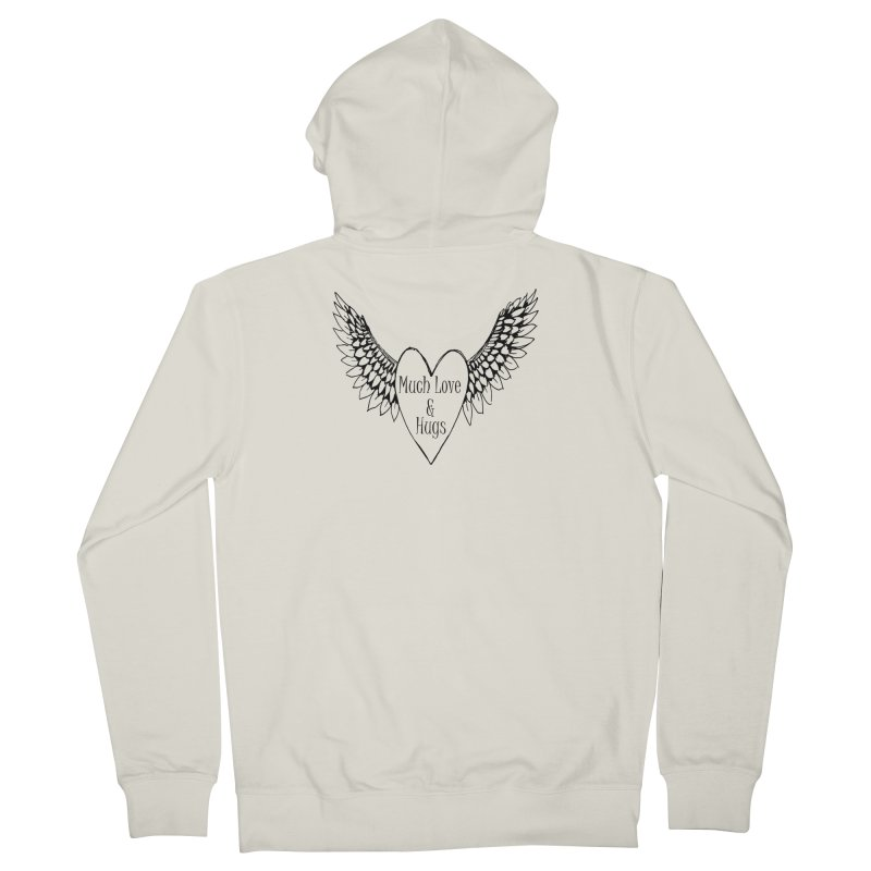 Much Love and Hugs Women's French Terry Zip-Up Hoody by FashionedbyNature's Artist Shop