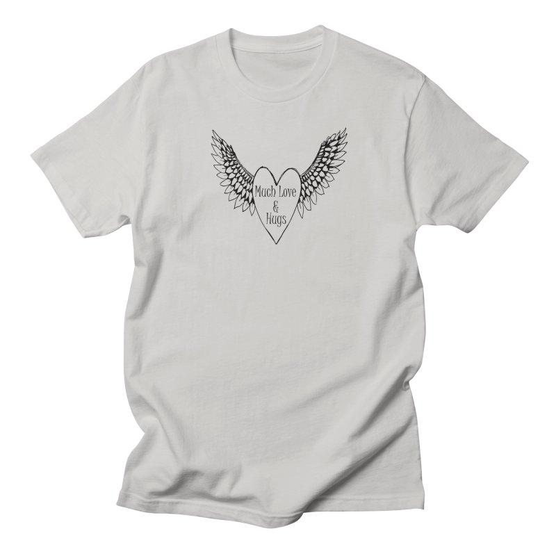 Much Love and Hugs Men's Regular T-Shirt by FashionedbyNature's Artist Shop