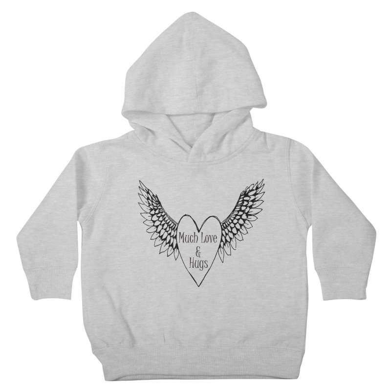 Much Love and Hugs Kids Toddler Pullover Hoody by All Fashioned by Nature Artist Shop