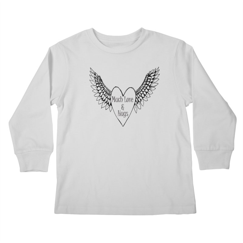 Much Love and Hugs Kids Longsleeve T-Shirt by All Fashioned by Nature Artist Shop
