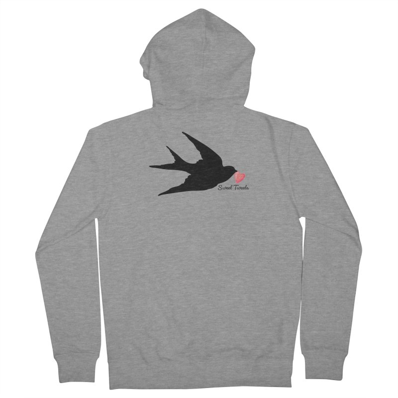 Sweet Tweets Women's French Terry Zip-Up Hoody by FashionedbyNature's Artist Shop
