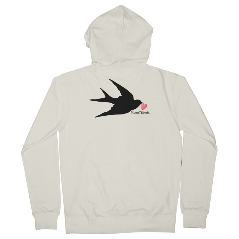 Sweet Tweets Men's French Terry Zip-Up Hoody by FashionedbyNature's Artist Shop