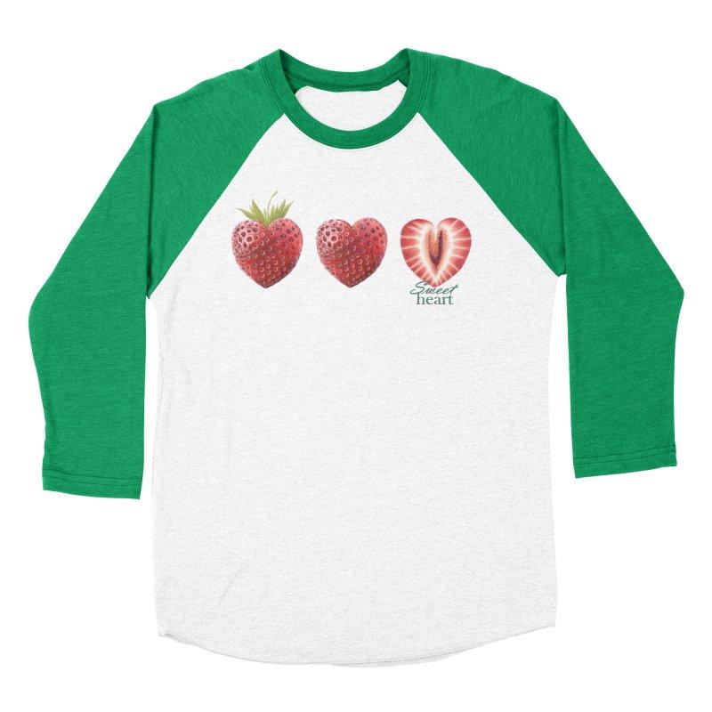 Sweet Heart Men's Baseball Triblend Longsleeve T-Shirt by FashionedbyNature's Artist Shop