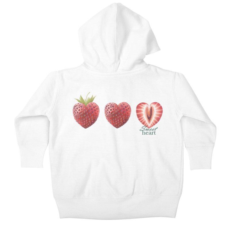 Sweet Heart Kids Baby Zip-Up Hoody by FashionedbyNature's Artist Shop