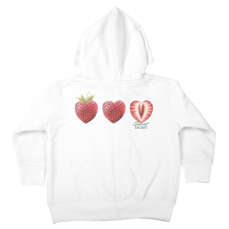 Sweet Heart Kids Toddler Zip-Up Hoody by FashionedbyNature's Artist Shop