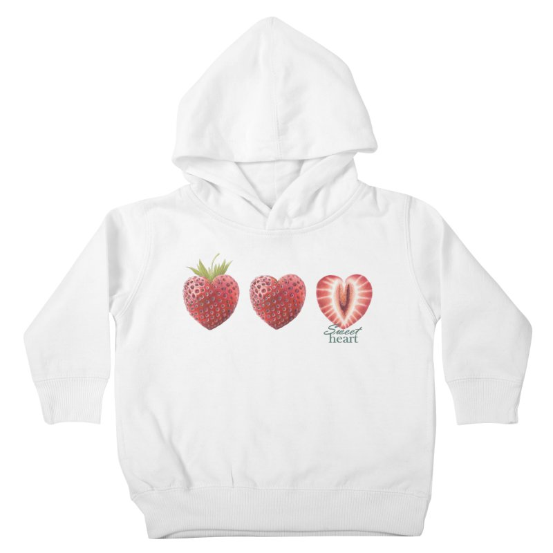 Sweet Heart Kids Toddler Pullover Hoody by FashionedbyNature's Artist Shop