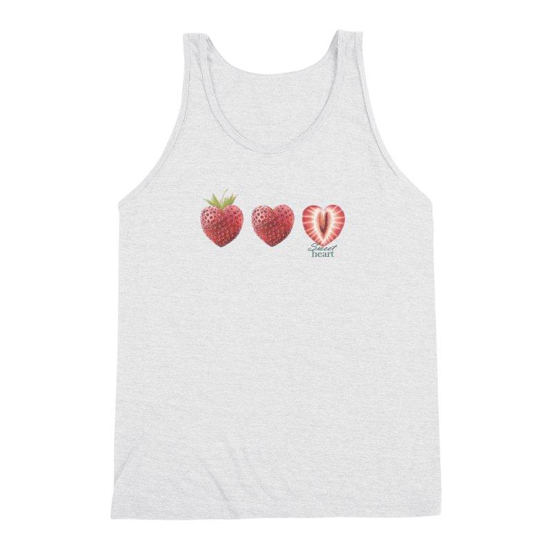 Sweet Heart Men's Triblend Tank by FashionedbyNature's Artist Shop