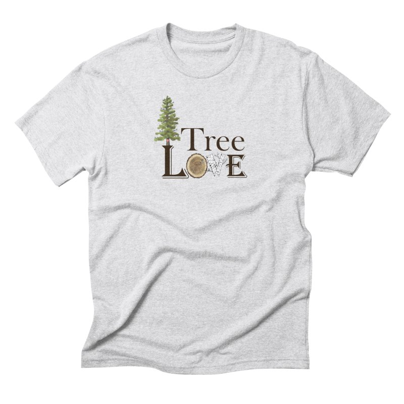 Tree Love Men's T-Shirt by All Fashioned by Nature Artist Shop
