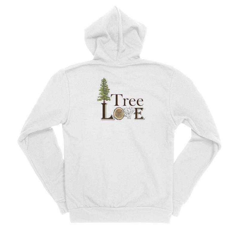 Tree Love Men's Sponge Fleece Zip-Up Hoody by FashionedbyNature's Artist Shop