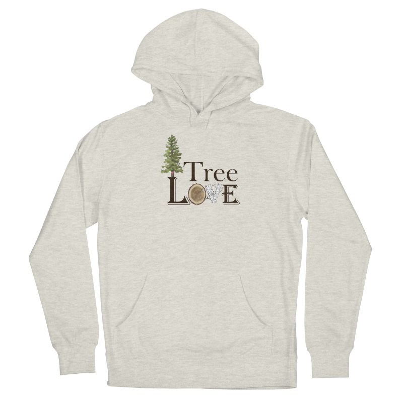 Tree Love Men's French Terry Pullover Hoody by FashionedbyNature's Artist Shop