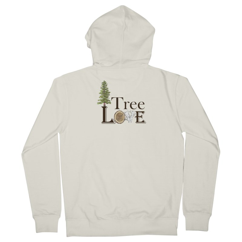 Tree Love Men's French Terry Zip-Up Hoody by FashionedbyNature's Artist Shop