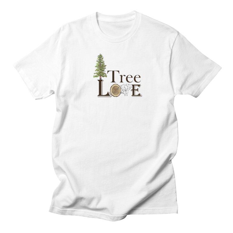Tree Love Men's Regular T-Shirt by FashionedbyNature's Artist Shop