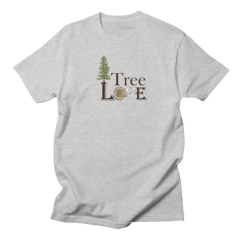 Tree Love Men's Regular T-Shirt by FashionedbyNature's Artist Shop