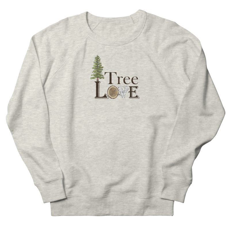Tree Love Men's French Terry Sweatshirt by FashionedbyNature's Artist Shop