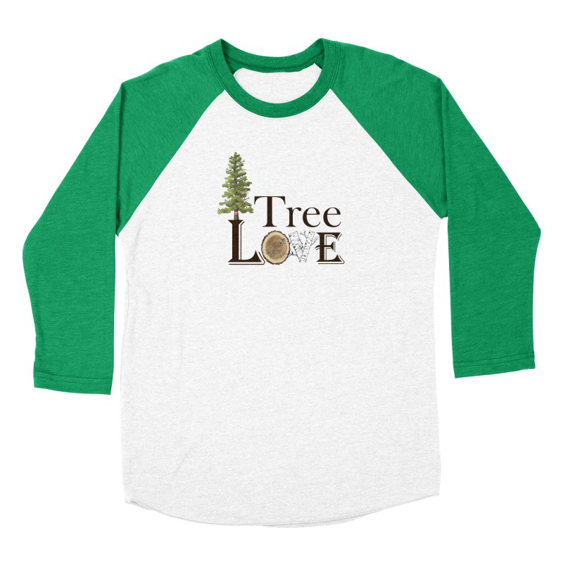 Tree Love Men's Baseball Triblend Longsleeve T-Shirt by FashionedbyNature's Artist Shop
