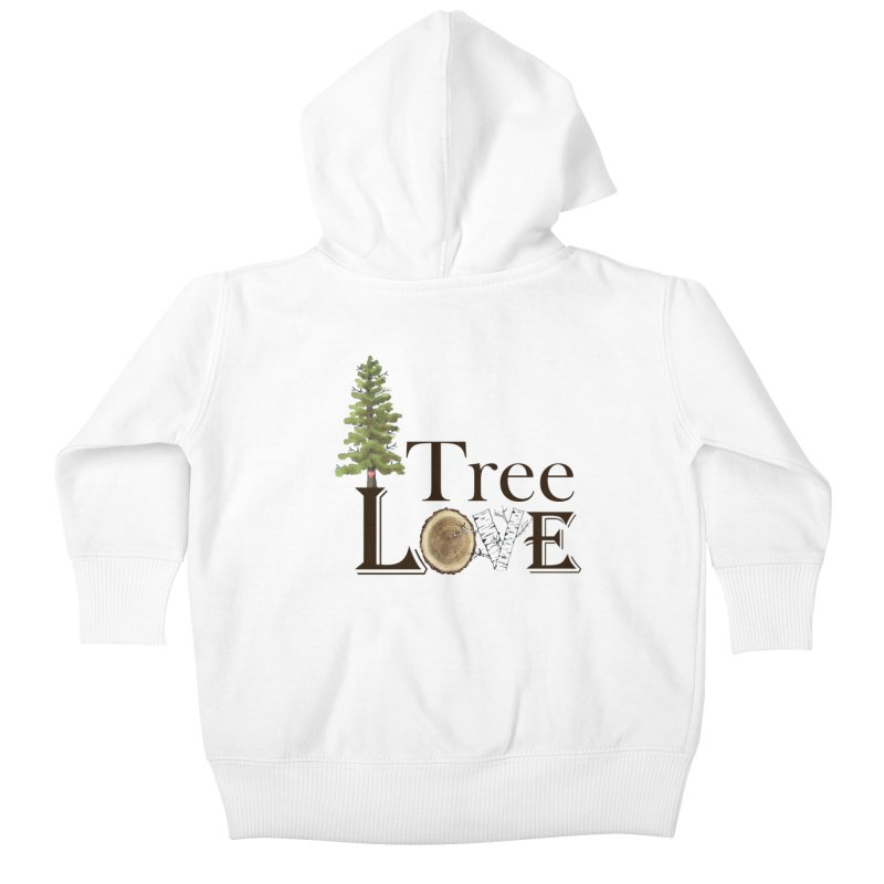 Tree Love Kids Baby Zip-Up Hoody by FashionedbyNature's Artist Shop