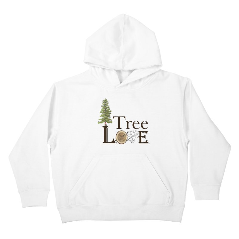 Tree Love Kids Pullover Hoody by FashionedbyNature's Artist Shop