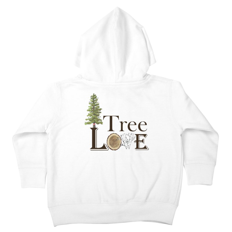 Tree Love Kids Toddler Zip-Up Hoody by FashionedbyNature's Artist Shop