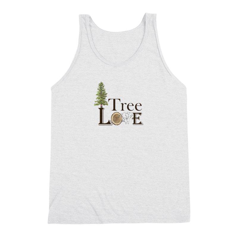 Tree Love Men's Triblend Tank by FashionedbyNature's Artist Shop