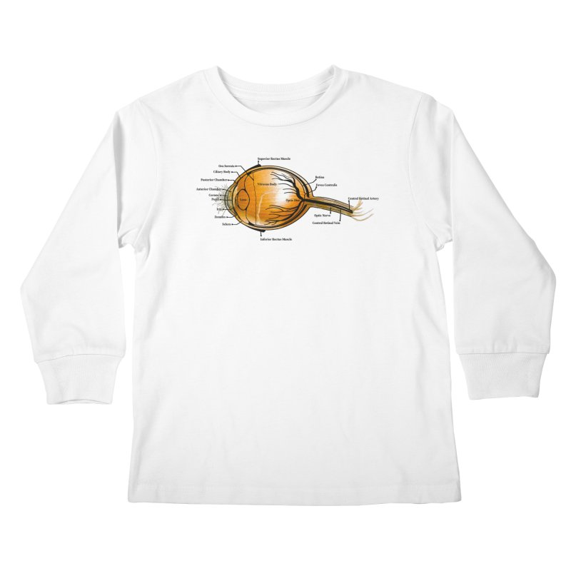 Onion Eye Kids Longsleeve T-Shirt by All Fashioned by Nature Artist Shop