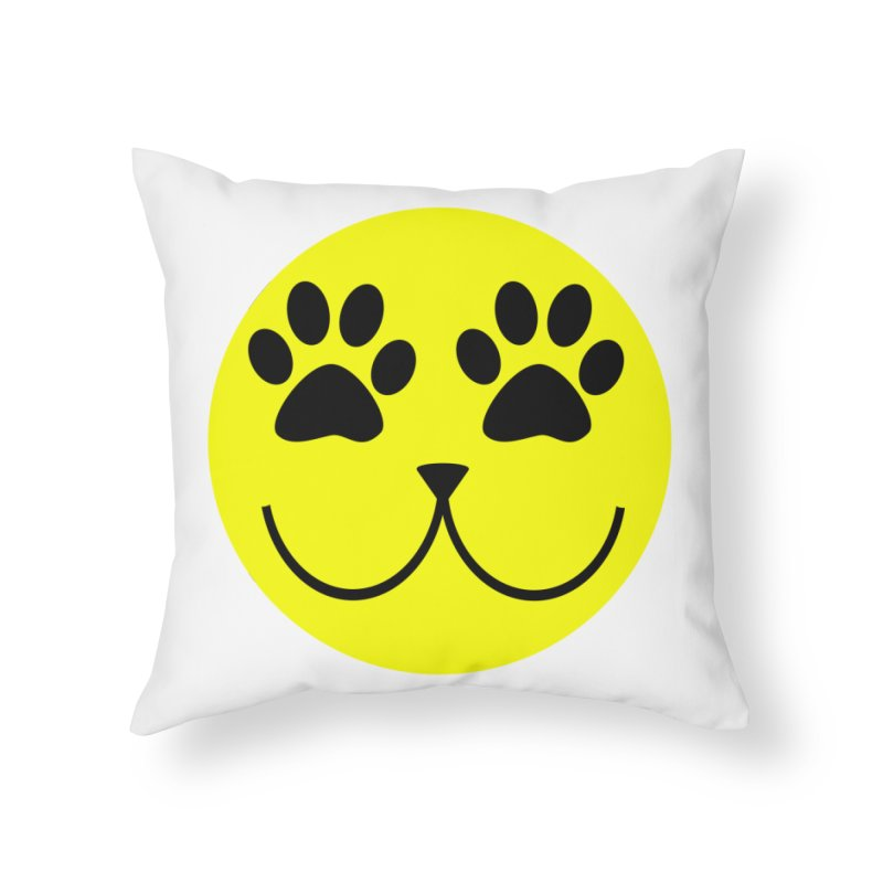 Emoji Pawsion Home Throw Pillow by All Fashioned by Nature Artist Shop