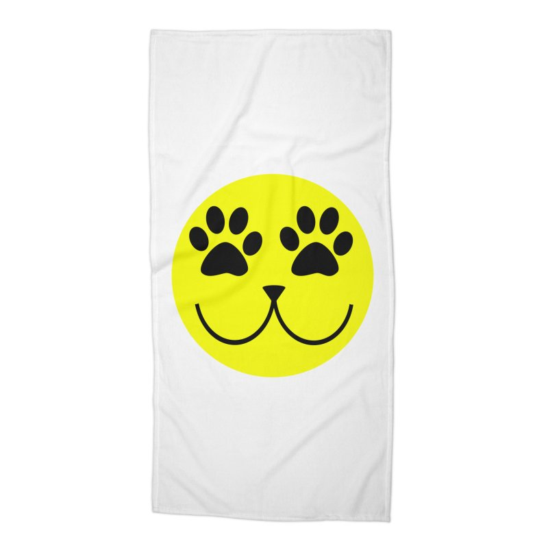 Emoji Pawsion Accessories Beach Towel by FashionedbyNature's Artist Shop