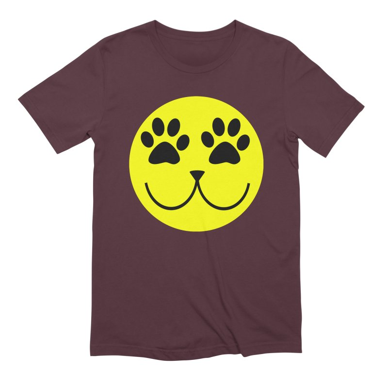 Emoji Pawsion Men's Extra Soft T-Shirt by FashionedbyNature's Artist Shop