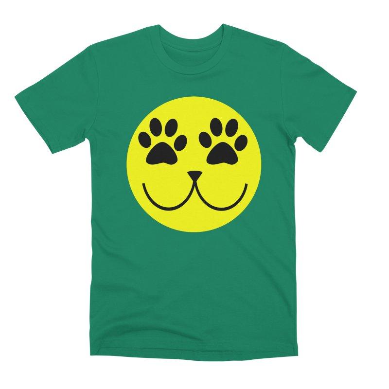 Emoji Pawsion Men's Premium T-Shirt by FashionedbyNature's Artist Shop