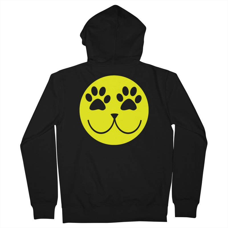 Emoji Pawsion Men's French Terry Zip-Up Hoody by FashionedbyNature's Artist Shop