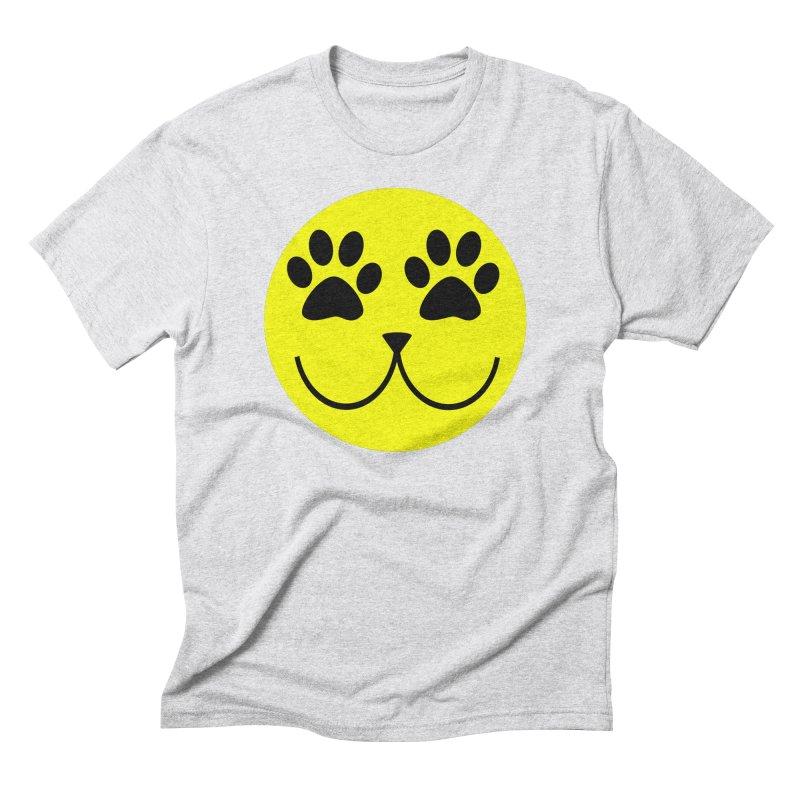 Emoji Pawsion Men's Triblend T-Shirt by FashionedbyNature's Artist Shop
