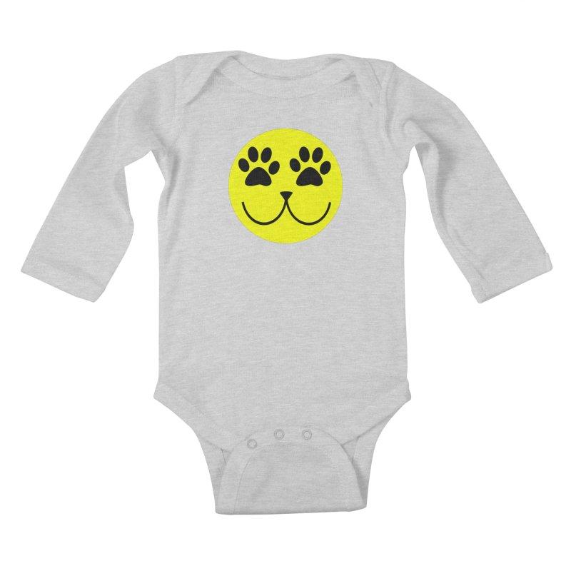 Emoji Pawsion Kids Baby Longsleeve Bodysuit by FashionedbyNature's Artist Shop