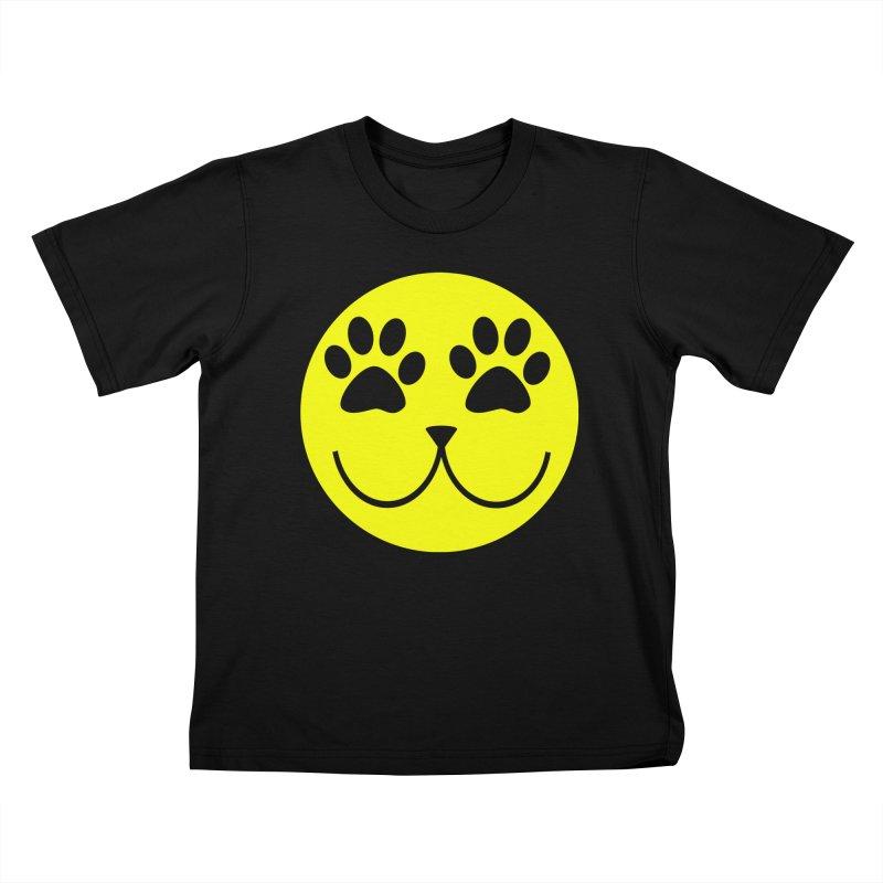 Emoji Pawsion Kids T-Shirt by FashionedbyNature's Artist Shop