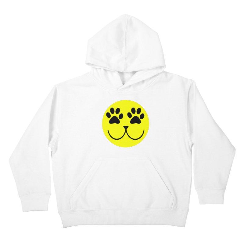 Emoji Pawsion Kids Pullover Hoody by FashionedbyNature's Artist Shop