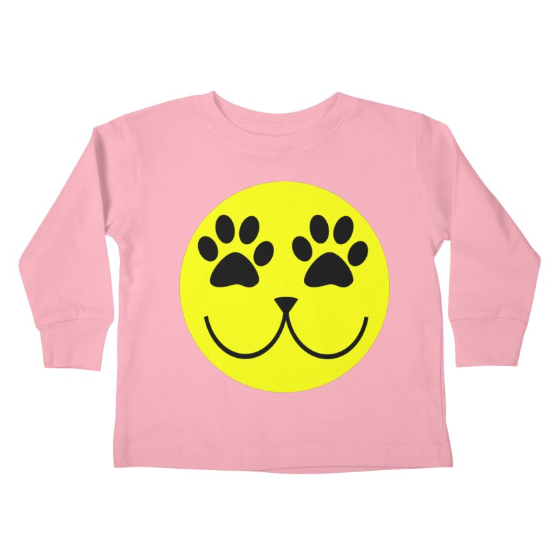 Emoji Pawsion Kids Toddler Longsleeve T-Shirt by FashionedbyNature's Artist Shop