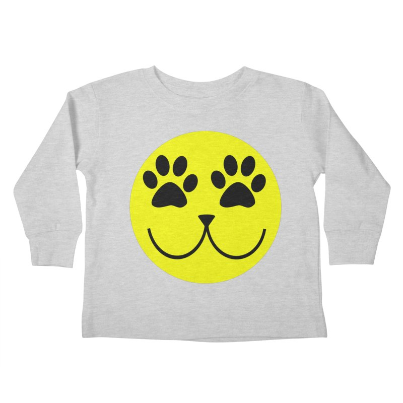 Emoji Pawsion Kids Toddler Longsleeve T-Shirt by FashionedbyNature's Artist Shop