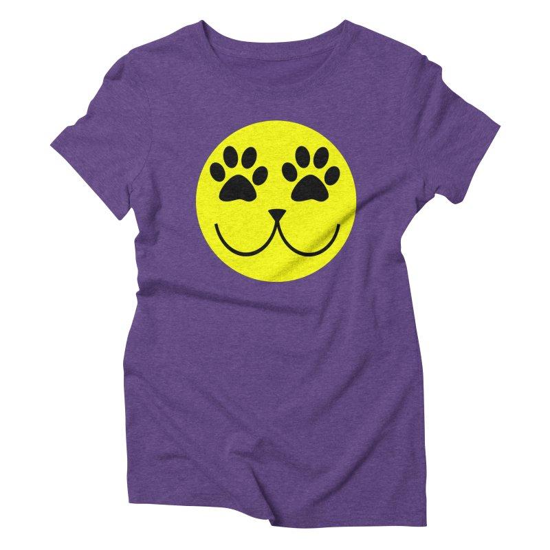 Emoji Pawsion Women's Triblend T-Shirt by FashionedbyNature's Artist Shop