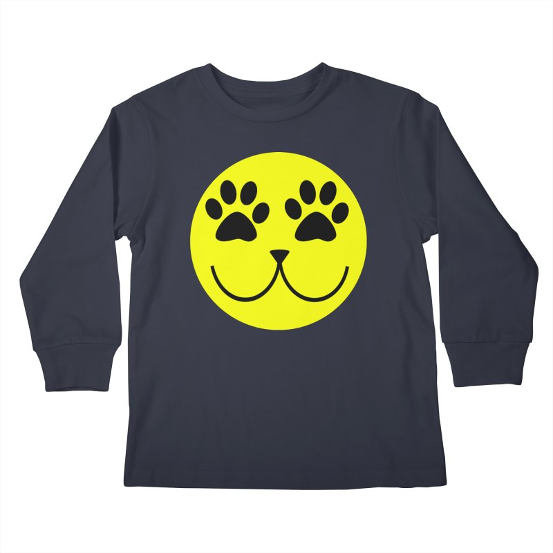 Emoji Pawsion Kids Longsleeve T-Shirt by All Fashioned by Nature Artist Shop