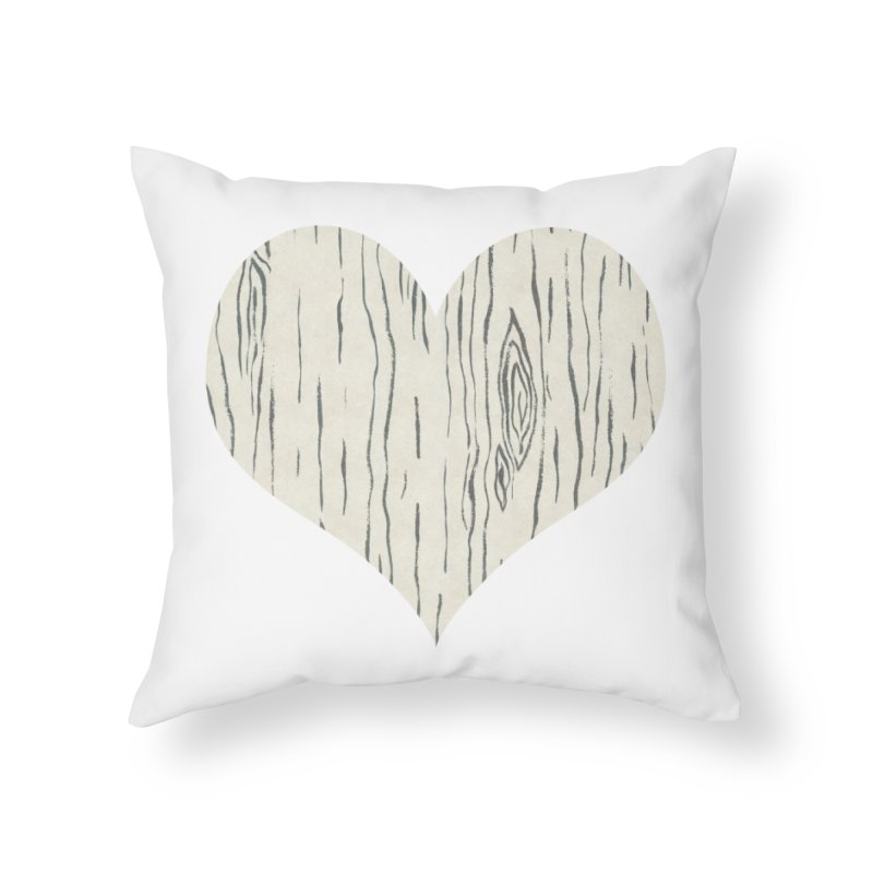 Heart of Birch Home Throw Pillow by FashionedbyNature's Artist Shop