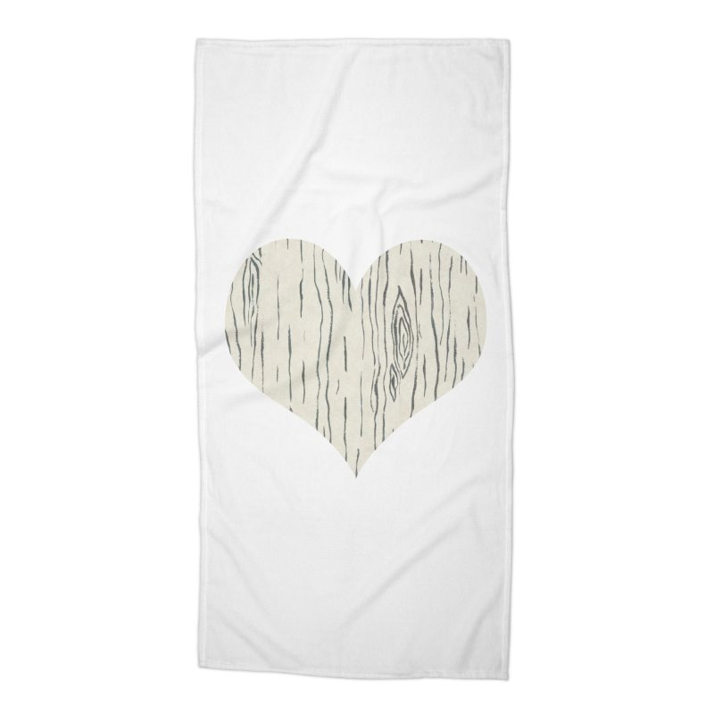 Heart of Birch Accessories Beach Towel by FashionedbyNature's Artist Shop