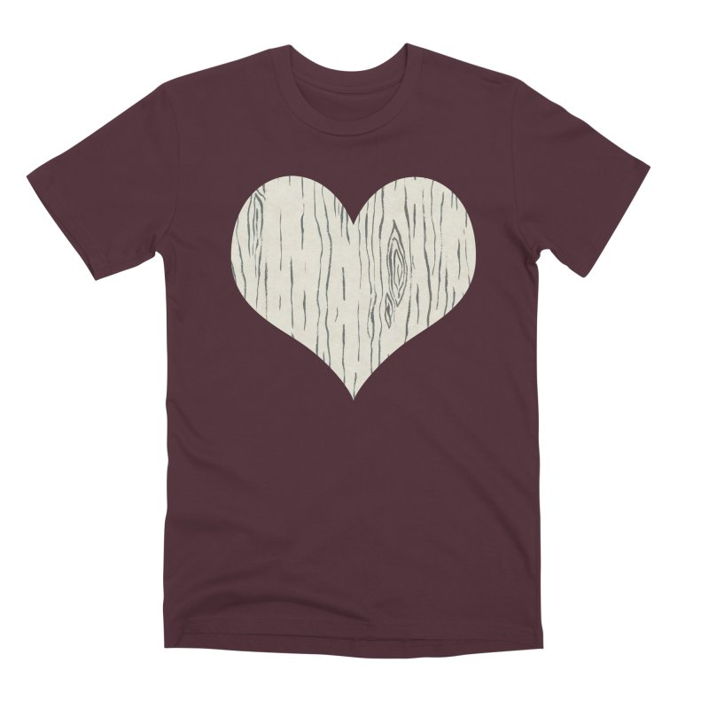 Heart of Birch Men's T-Shirt by FashionedbyNature's Artist Shop