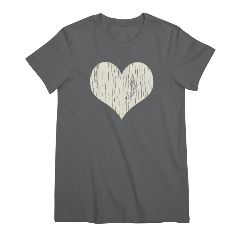 Heart of Birch Women's Premium T-Shirt by FashionedbyNature's Artist Shop