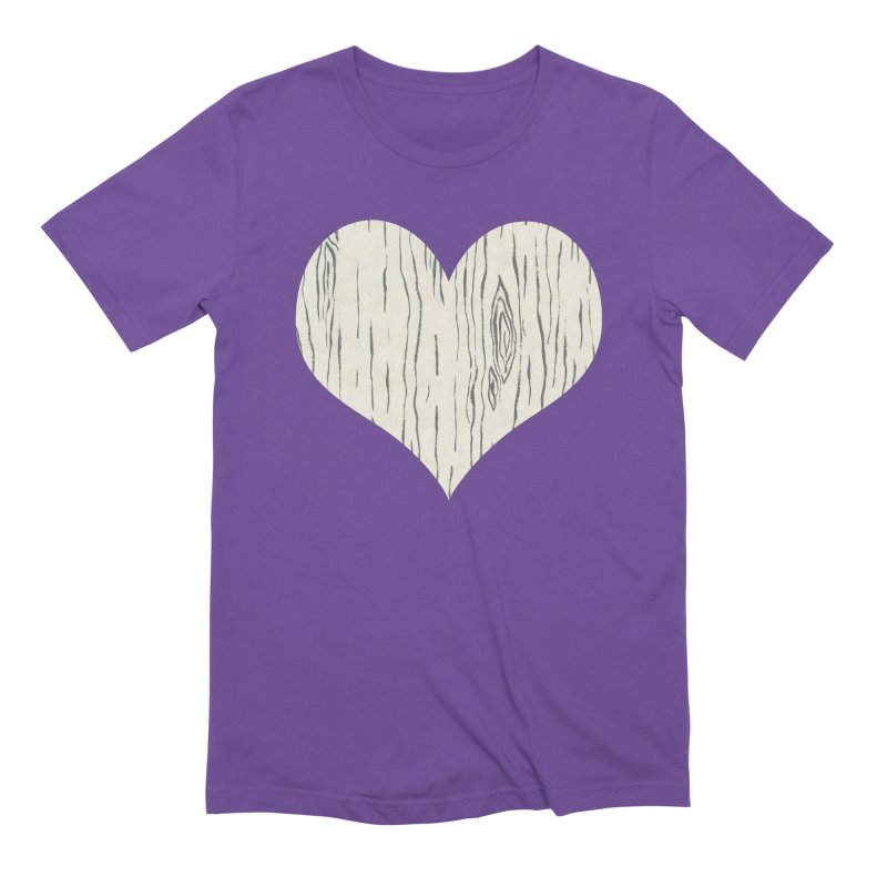 Heart of Birch Men's Extra Soft T-Shirt by FashionedbyNature's Artist Shop
