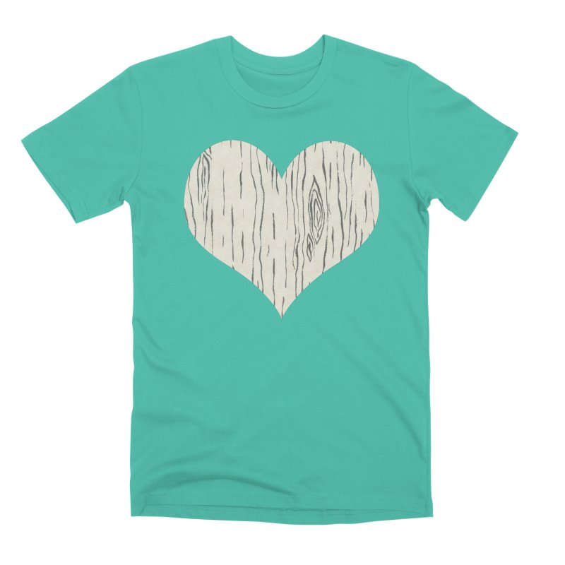 Heart of Birch Men's T-Shirt by All Fashioned by Nature Artist Shop