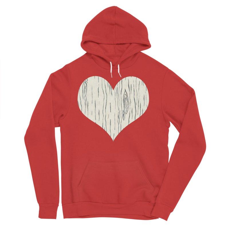 Heart of Birch Men's Sponge Fleece Pullover Hoody by FashionedbyNature's Artist Shop