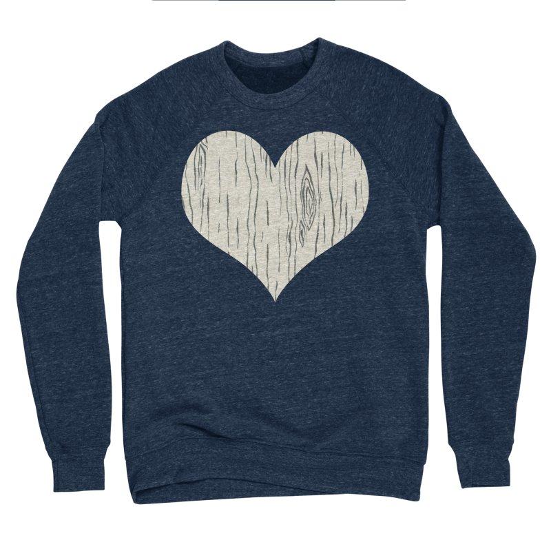 Heart of Birch Men's Sponge Fleece Sweatshirt by FashionedbyNature's Artist Shop