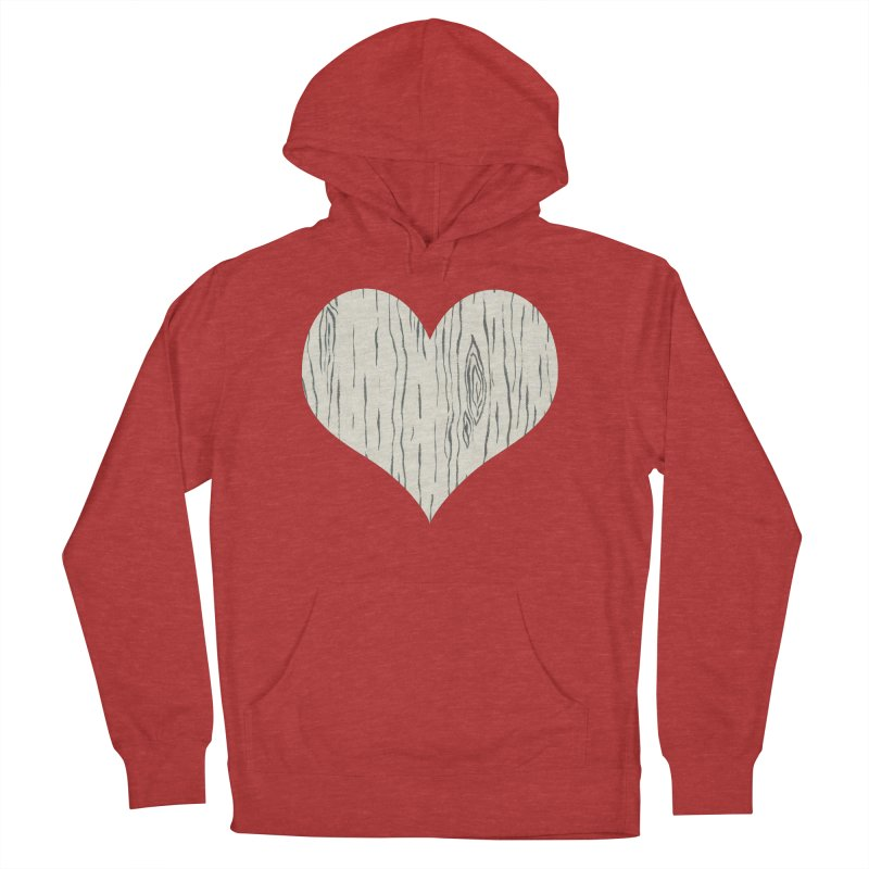 Heart of Birch Women's French Terry Pullover Hoody by FashionedbyNature's Artist Shop